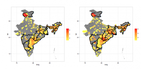 Spatial Distribution of Conflict Intensity across India