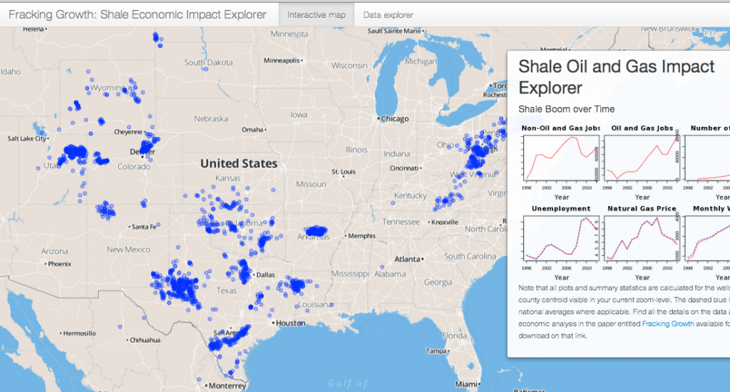 Fracking in your neighborhood? Shale- Oil and Gas Economic Impact Map